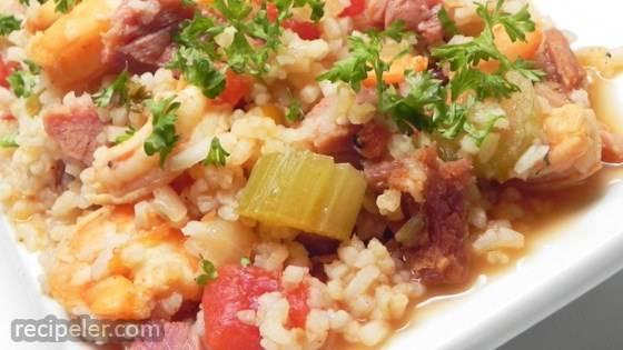 Ham and Shrimp Jambalaya