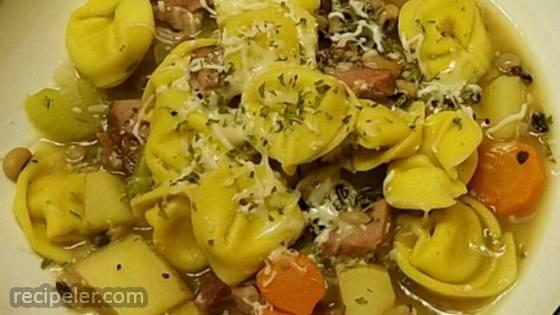 Ham and Tortellini Soup