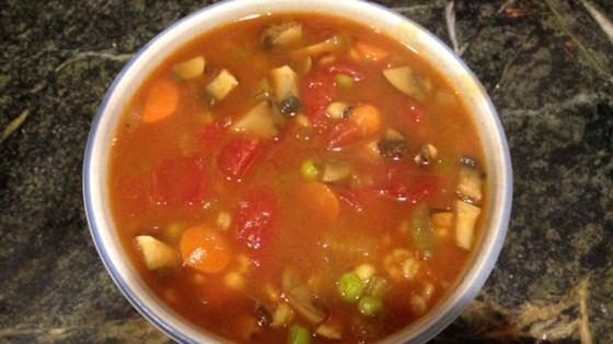 ham mushroom barley soup