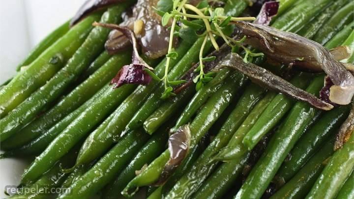 haricots verts lyonnaise