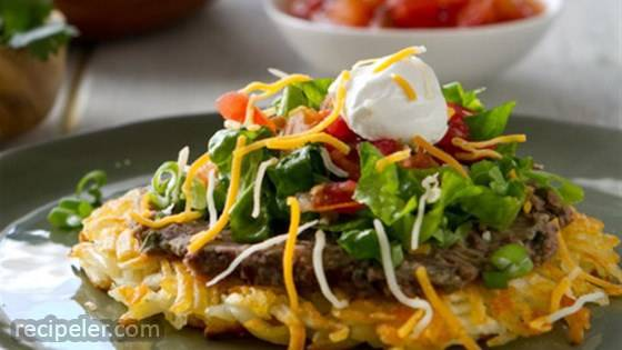 Hash Brown Tostadas
