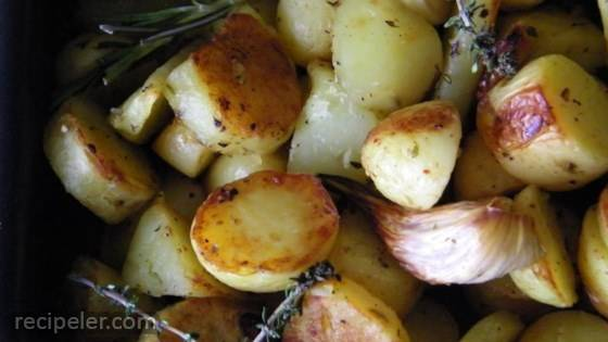 Healthier Oven Roasted Potatoes
