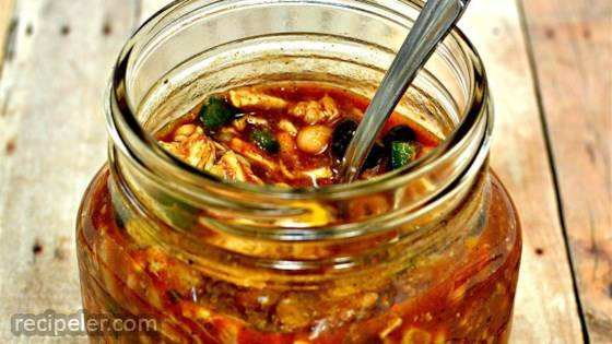 Hearty Chicken Tortilla Soup with Beans