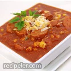 Hearty Hot Dog Soup