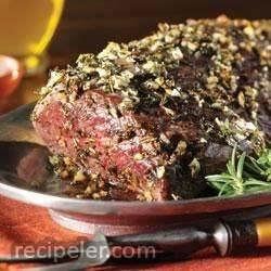 Herb and Garlic Roast Tenderloin with Creamy Horseradish Sauce
