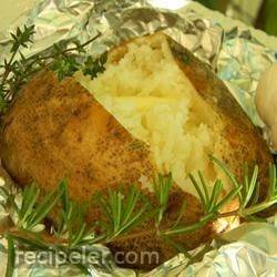 Herb Garlic Baked Potatoes