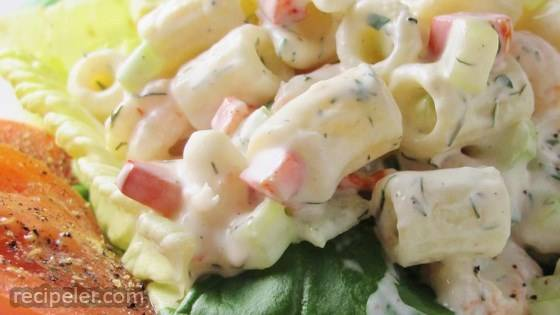 Herbed Macaroni Salad with Shrimp