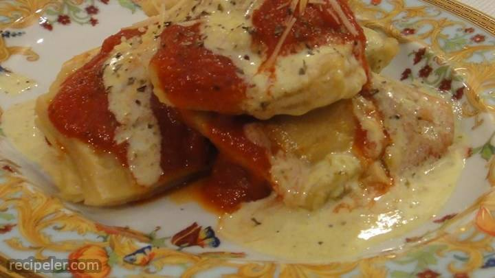 homemade four cheese ravioli