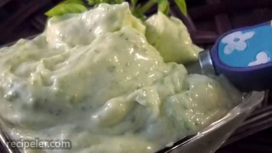 Homemade Garlic Basil Mayonnaise