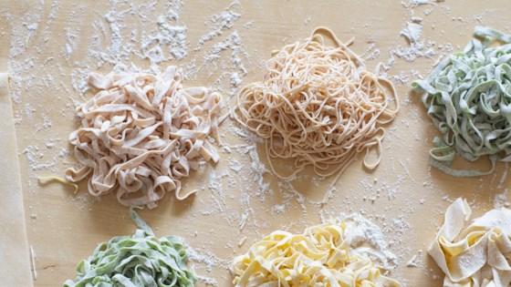 homemade red pasta dough