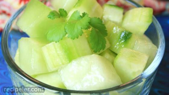 Honeydew and Cucumber Salad