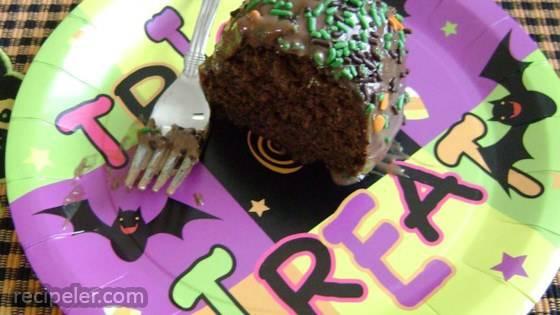 Hot Water Chocolate Cake