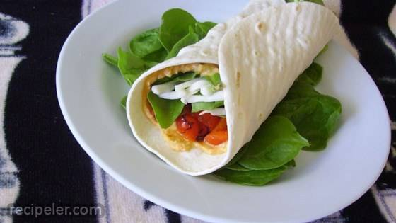 Hummus and Artichoke Wrap