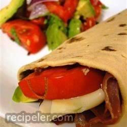 Hummus and Prosciutto Wrap