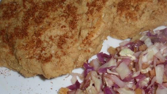 hummus pancake with mediterranean spice mix