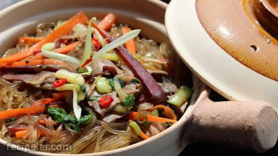 Jab Chae (Korean Noodles)