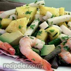 Jicama and Pineapple Salad in a Cilantro Vinaigrette