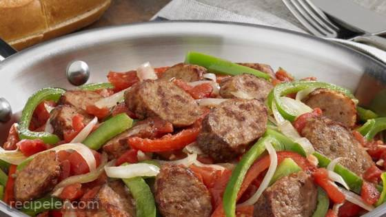 Johnsonville talian Sausage, Onions & Peppers Skillet