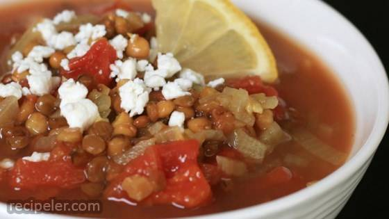 Jorge's ndian-Spiced Tomato Lentil Soup