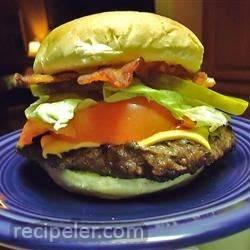 Juicy Deer and Bacon Burgers