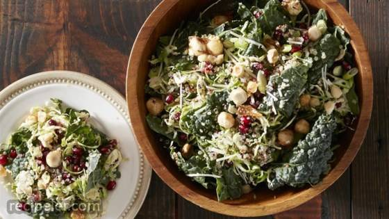 Kale and Brussels Slaw with Quinoa