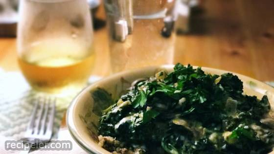 Kale and Mushroom Stroganoff with Quinoa