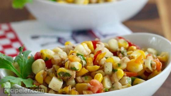 Kate's Grilled Corn Salad