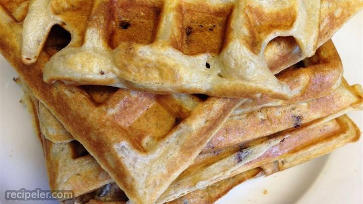 kate's light n' fluffy buttermilk and chocolate chip waffles