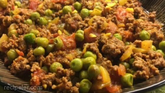 Kheema Matar (Beef and Pea Curry)