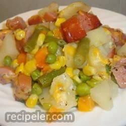 kielbasa and veggies