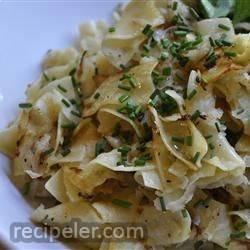Kohlrabi and Egg Noodles