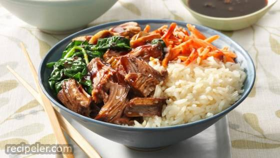 Korean Barbecue Rice Bowl