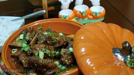 Korean BBQ-nspired Short Ribs