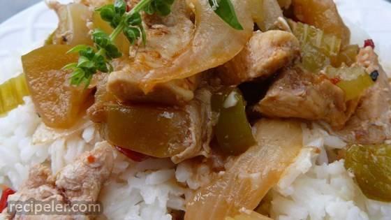 Korean Spicy Chicken Tenders with Sweet Apple