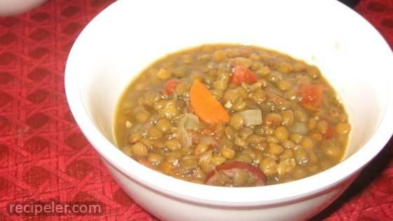 Kris' Lentil Sausage Soup