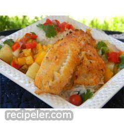 LaWanna's Mango Salsa on Tilapia Fillets
