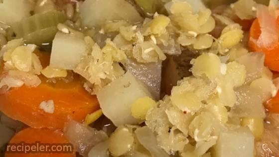 Lebanese-Style Red Lentil Soup