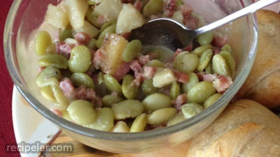 Leftover Ham and Lima Bean Soup