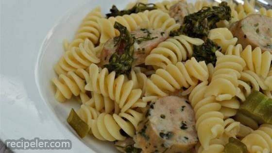 Lemon Broccolini and Sausage Pasta