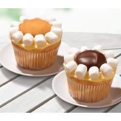 lemon daisy cupcakes