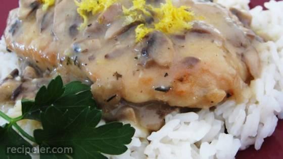 Lemon Mushroom Herb Chicken