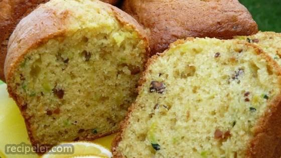 Lemon Pistachio Zucchini Bread