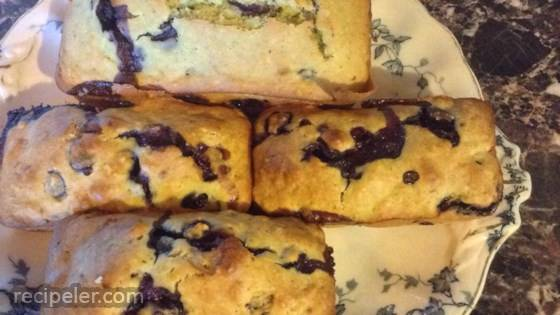 Lemon Verbena-Blueberry Muffins