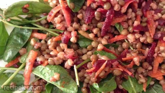 Lentils and Buckwheat Salad To Go (Gluten-Free)