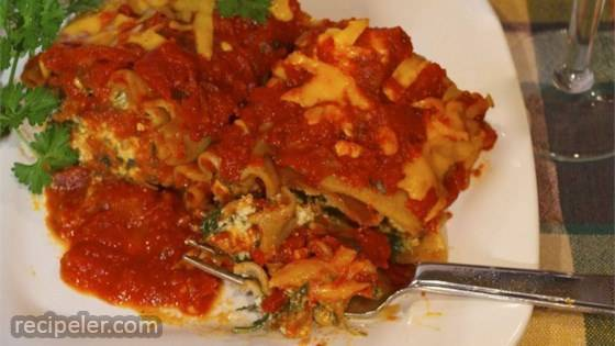 Lighter Simple Lasagna Roll Ups