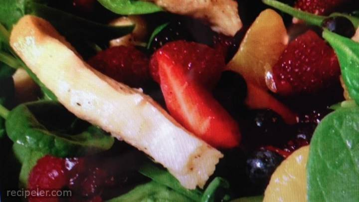lime-berry chicken salad