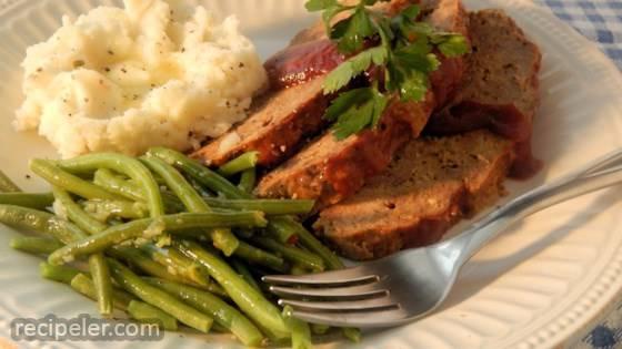 Low-Fat Slow Cooker Glazed Meatloaf
