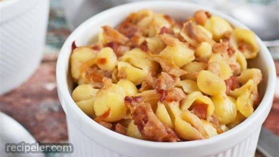 Mac & Cheese With Root Vegetables & Pancetta