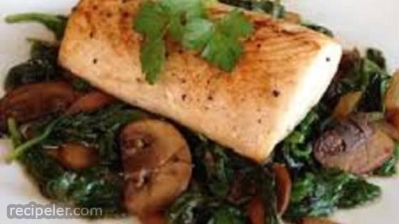 Mahi and Mushrooms