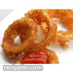 Making Crispy Onion Rings